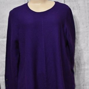 Alfani Sweater Plus Size 0X Ribbed Knit Tunic